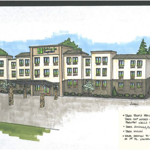 Holidayinn Madison Exterior Rendering