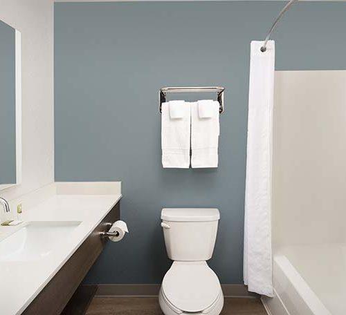 8 WoodSpring Suites Extended Stay Hotel Batroom Regular GENERIC 738x456