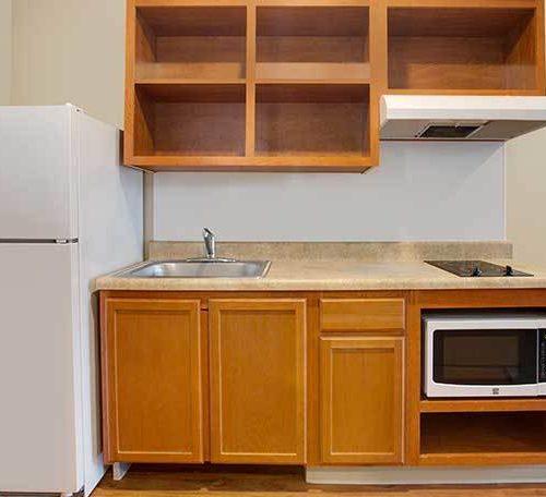 WoodSpring Suites Extended Stay Hotel Rebrand Carpet Generic ADA Base+Kitchen 738×456~800